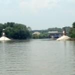 Svetionici na ušću Tamiša u Dunav