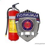 Protivpožarni aparat i policijska značka