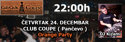 Cafe club Coupe – DJ Kizami – Orange party