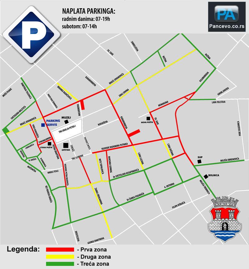Pancevo Mapa