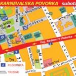 Trasa šestog Pančevačkog karnevala